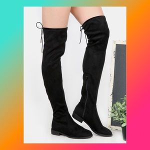 EUC [Catherine] Thigh High All Black Boots